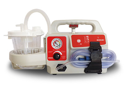 Portable suction machine  with charging bracket