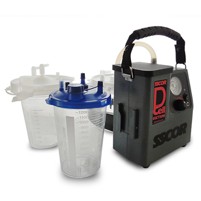 Accomodates most standard hospital suction canisters